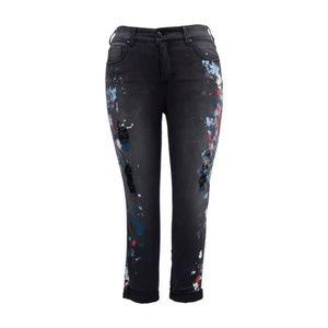 Melissa Mccarthy Seven7 Black Splatter Skinny Jean